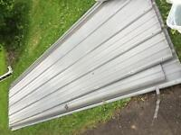 7 sheets used metal roofing