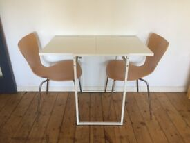 Small foldable dining table or can be used as a desk!