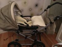 Babystyle pram in good condition. Footmuff and changing bag included