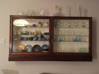 Edwardian glass cabinet