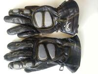 Gants en cuir pour moto/Motorcycle leather gloves