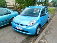 2005 daihatsul sirion 998 cc petrol ideal first car 2 owners from new 5 door 78.000 miles