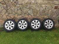 """16""""Alloy Wheels And Tyres.5x112 Pcd. 205/55/16.Vw/Audi/Seat/Skoda"""