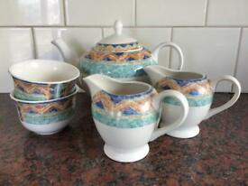 Port of Call by Jeff Banks tableware Teapot Milk jugs and Sugar bowls