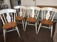 4 Dining Chairs - Rustic Farmhouse Style - Great Condition