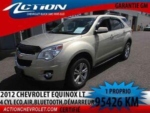 2012 CHEVROLET EQUINOX FWD LT LT,4 CYL ECO,AUTO,AIR,BLUETOOTH