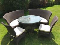 6-8 seat rattan garden furniture set