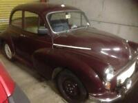 Morris minor 1000 OPEN TO SERIOUS OFFERS( MUST SELL)