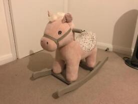 Mamas & Papas Pink Rocking Horse (Belle)