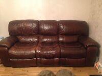2 X Ex Harvey's 3 Seater Reclining Sofas
