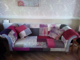 DFS sofa chair pouff set