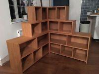 Wooden corner storage unit - hand made