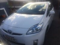 TOYOTA PRIUS WHITE , WITH ONE YEAR PCO, 100K