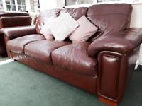 Luxury Leather Sofa and Armchair