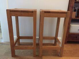 Wooden kitchen stool x2