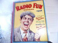 Antique Books - Radio Fun 1956 and Knockout Fun Book 1956