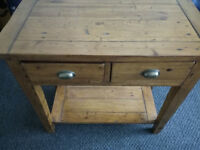 Barker and stonehouse solid oak console table