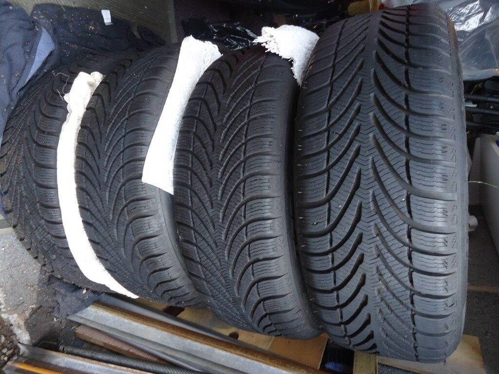 A Set of 4 winter tyres complete on Alloy Wheels to fit vw passat or similar 205 / 55 R 16