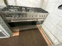 Stainless steel Britannia 120cm dull full cooker grill & double fan assets ovens with guarantee