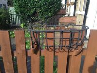 3 Wrought Iron Garden Trough for plants