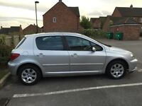Peugeot 307 2002 petrol 1.6. Full service history. Excellent runner. £450 NEED IT GONE ASAP