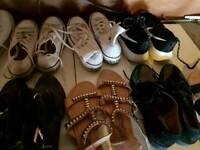 Ladies shoes 26 pairs converse nike etc