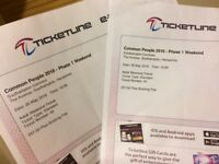 2 x Common People Weekend Tickets
