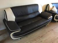 3 & 2 seater leather effect sofas