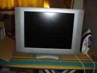 "20""BEKO FLAT SCREEN TV WITH BLACK TOSHIBA DVD PLAYER"