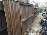 Six foot wooden fence panels