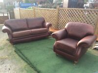 Vintage leather sofa & Chair cost £4000