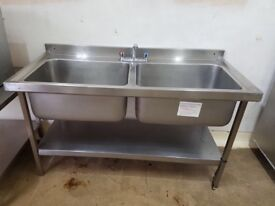 Commercial double sink catering resturant hotels pubs cafe