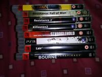 6 X SONY PLAYSTATION 3 GAMES PS3 GAMES