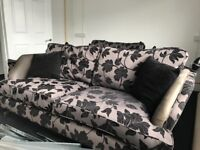 Two seater sofa and single sofa matching suite