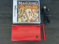 Red Nintendo DSi with game