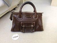 Genuine Chloe Brown Edith Tote Bag - comes with original tags and cloth bag