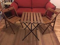 Garden chairs x2 and table URGENT