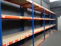 JOBLOT 10 bays of Rapid 1 industrial longspan shelving 7ft high ( pallet racking , storage )