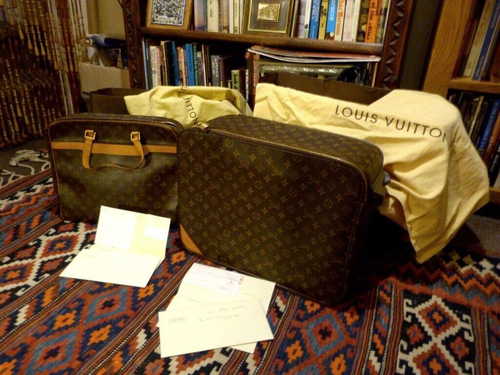 7529d3ceacd3 Authentic Louis Vuitton Pegase 50 Monogram Luggage and matching Pegase  Monogram Briefcase