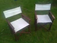 Pair of Wooden Director's Chairs