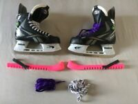 Reebok 9K Pump, Ice Hockey Skates - EUR 40 ( UK 6.5 ) with guards + spare laces.