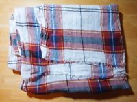 [Zara Man] Checked Blanket Scarf (used, very good condition)