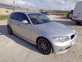 2005 BMW 1 SERIES 120D SPORT AUTO 5 DOOR HATCHBACK SILVER 10 MONTHS M.O.T
