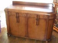 1930s oak art deco sideboard dinner service