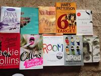 Over 100 fiction books, all good condition