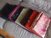 nine brand new womens shawls,excellent quality,all different pattern & colors,all nine for only £90.