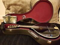 Celtic Star Mandolin, solid wood electro-acoustic with case & accessories - as new!