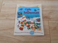 ***NEW*** KIDS CHILLY THE SNOWMAN CHRISTMAS STICKER & ACTIVITY BOOK