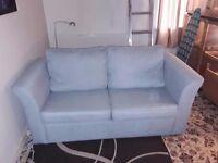 Light bluegray sofa bed