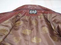 GAP Genuine 80's Vintage Leather Jacket - Size Small